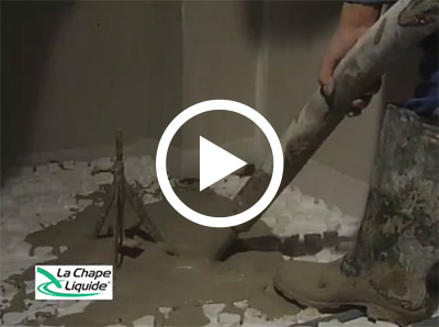 Vidéo de mise en oeuvre de la chape liquide